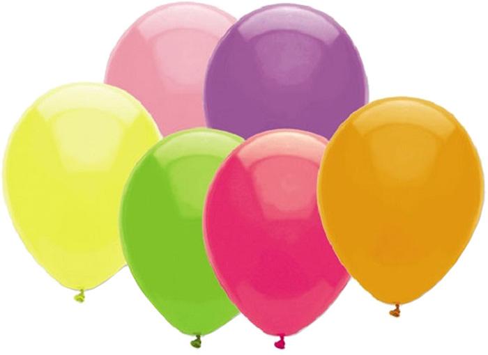 Miland Набор воздушных шариков Неон 28 см 100 шт -  Воздушные шарики
