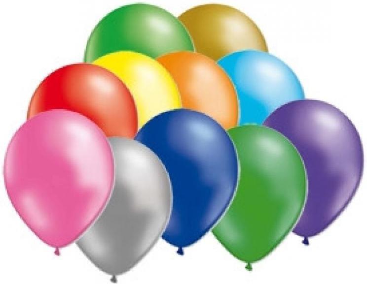 Miland Набор воздушных шариков Металлик 31 см 100 шт -  Воздушные шарики