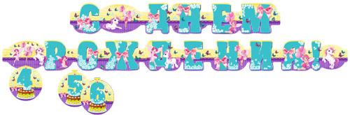 Miland Гирлянда детская С Днем рождения Пони Феи disney гирлянда детская резная с подвесками с днем рождения тачки 200 см