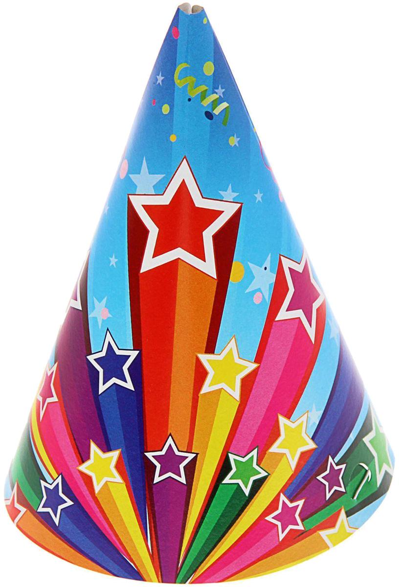 Miland Колпак карнавальный детский Звезды 6 шт miland гирлянда детская с днем рождения для мужчин