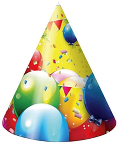 Miland Колпак карнавальный детский Шарики 6 шт miland гирлянда детская с днем рождения для мужчин