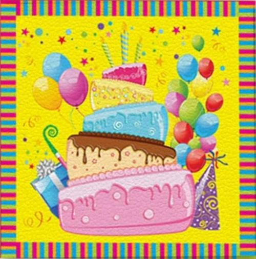 Miland Салфетки Веселого Дня рождения 16 шт miland гирлянда детская с днем рождения для мужчин