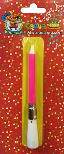 Miland Свеча для торта музыкальная цвет розовый музыкальная подвеска на кроватку chicco чико спокойной ночи цвет розовый