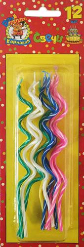 Miland Свечи для торта Спираль 12 шт -  Сервировка праздничного стола