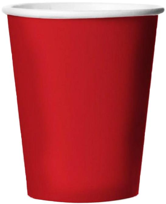 Miland Стаканы бумажные Красная Роза 6 шт -  Сервировка праздничного стола
