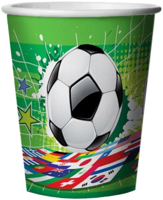 Miland Стаканы бумажные Футбольный матч 6 шт miland тарелка бумажная футбольный матч 17 см 6 шт