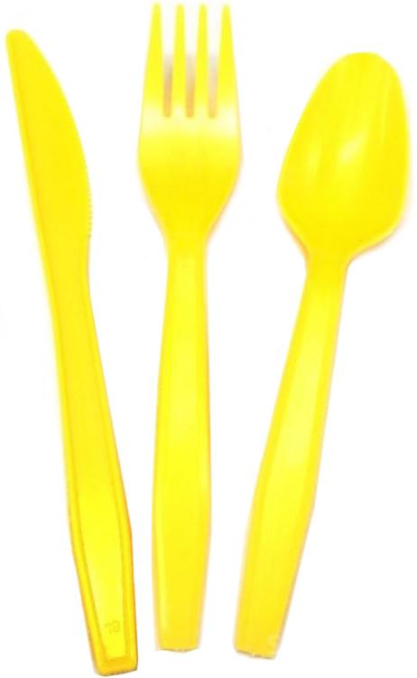 Miland Набор одноразовых столовых приборов Желтое солнце 18 предметов