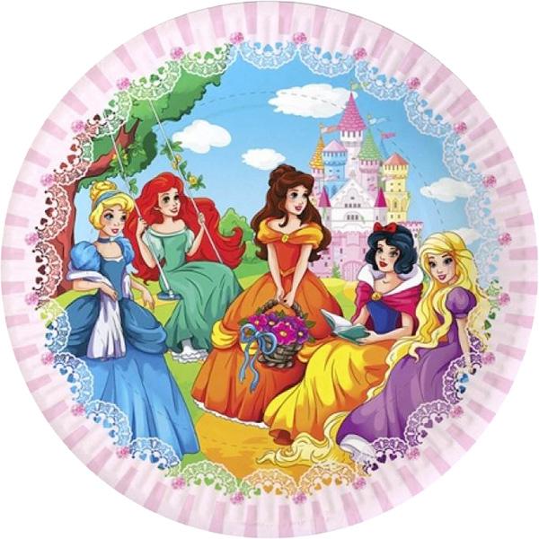 Miland Тарелка бумажная В гостях у принцессы 17 см 6 шт miland тарелка бумажная футбольный матч 17 см 6 шт