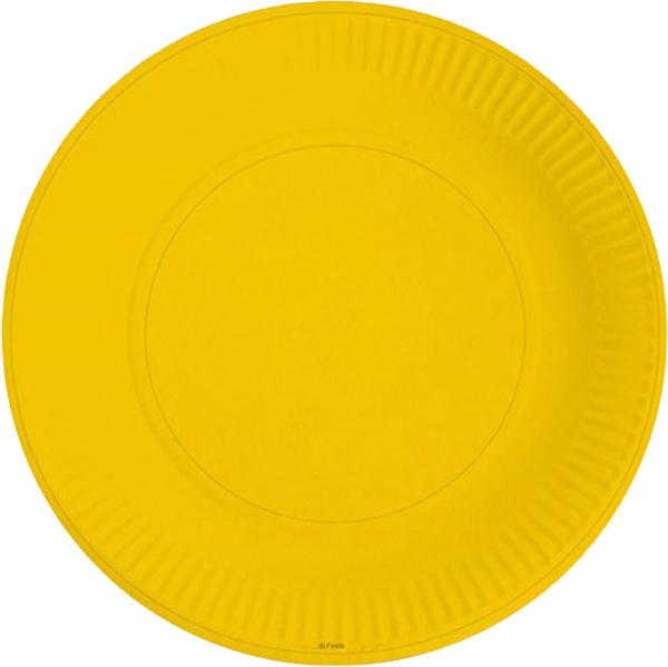 Miland Тарелка бумажная Желтое солнце 17 см 6 шт -  Сервировка праздничного стола
