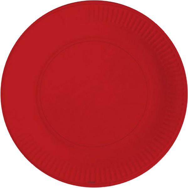Miland Тарелка бумажная Красная Роза 17 см 6 шт miland тарелка бумажная футбольный матч 17 см 6 шт