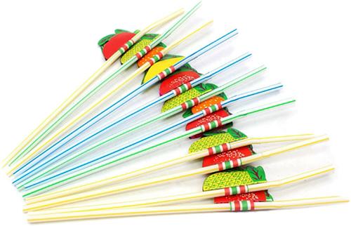 Miland Трубочки для коктейля Фрукты 12 шт -  Сервировка праздничного стола