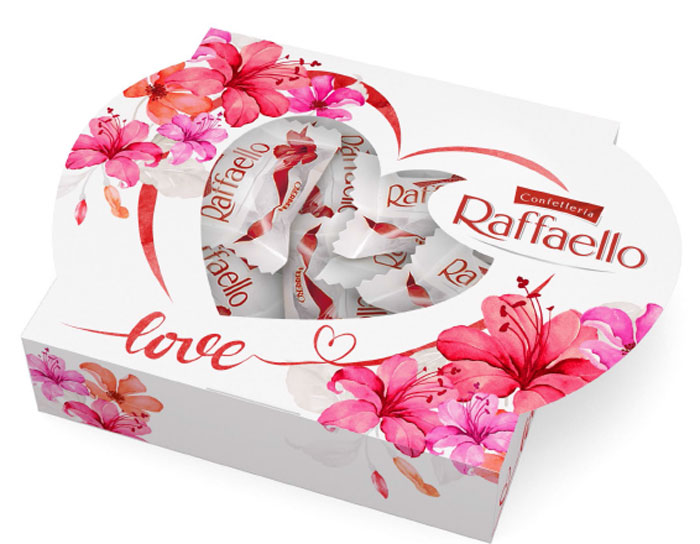 Raffaello Сердце конфеты с цельным миндальным орехом в кокосовой обсыпке, 120 г raffaello rossi повседневные брюки