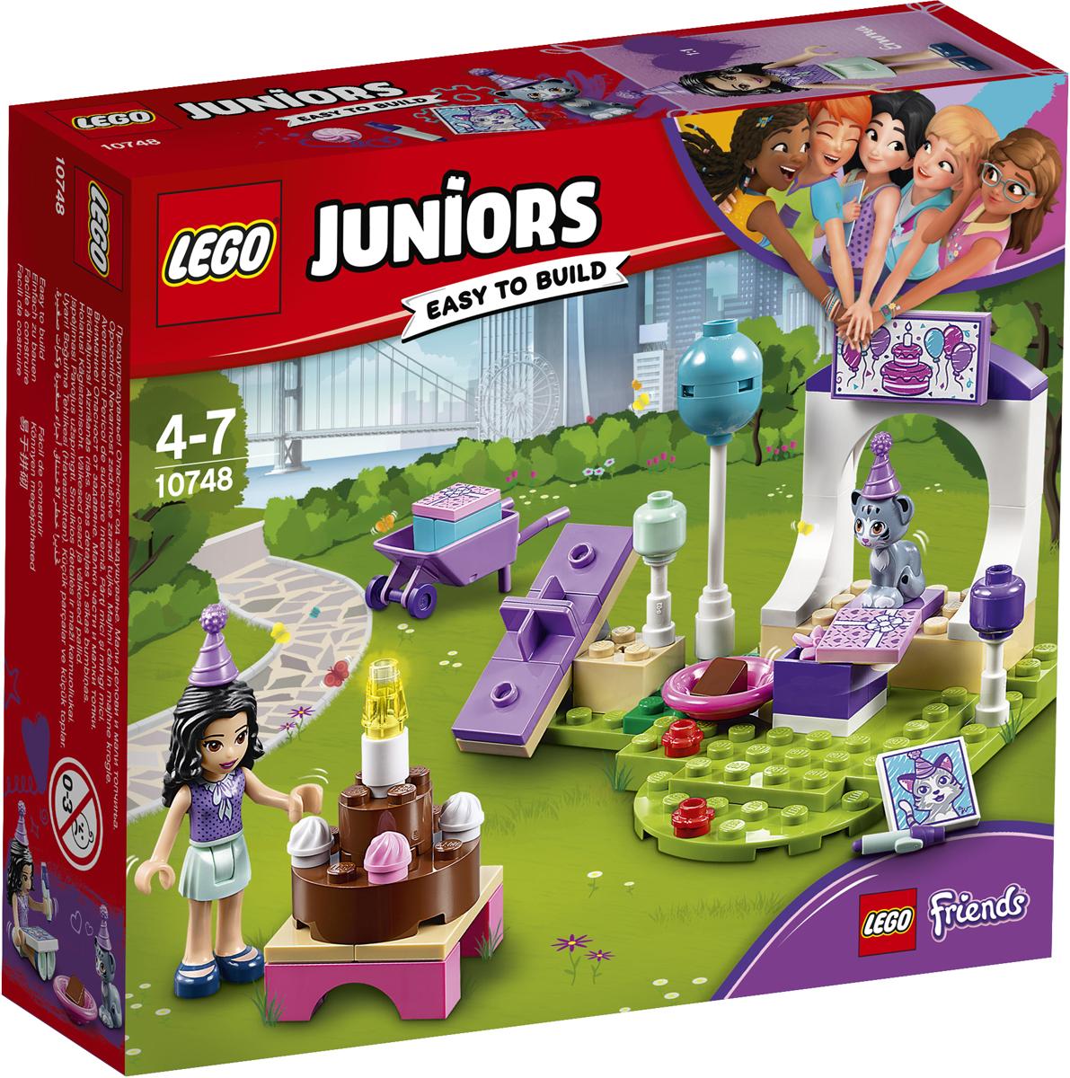 LEGO Juniors Конструктор Вечеринка Эммы для питомцев 10748 lego juniors конструктор финальная гонка флорида 500 10745