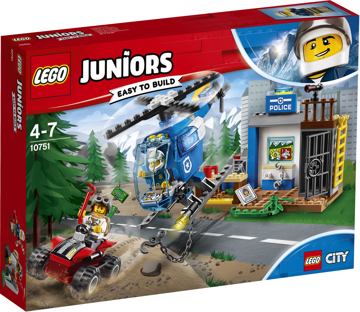 LEGO Juniors Конструктор Погоня горной полиции 10751 конструктор lego juniors ветеринарная клиника мии 10728