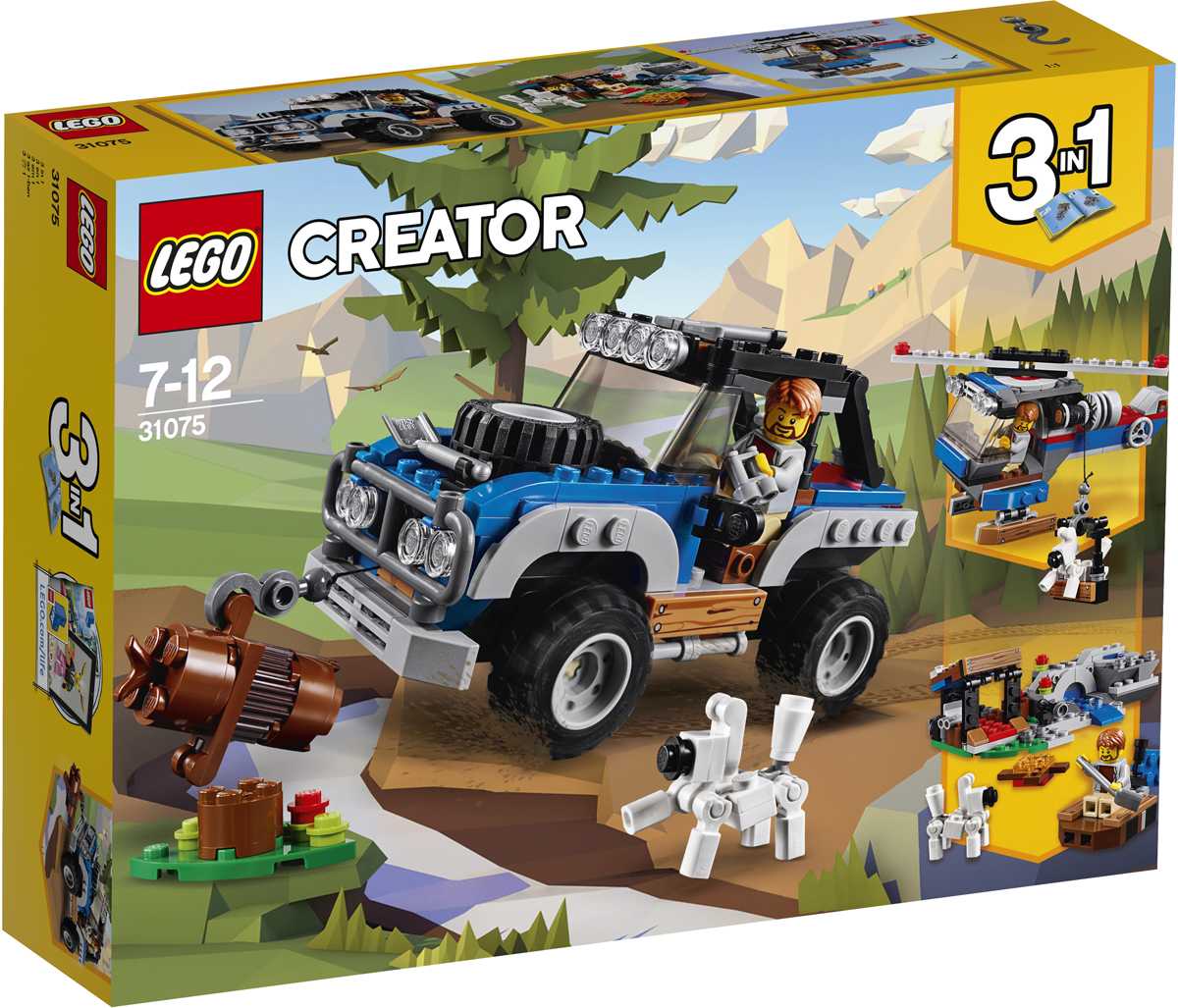 конструктор lego creator реактивный самолет 31042 LEGO Creator Конструктор Приключения в глуши 31075