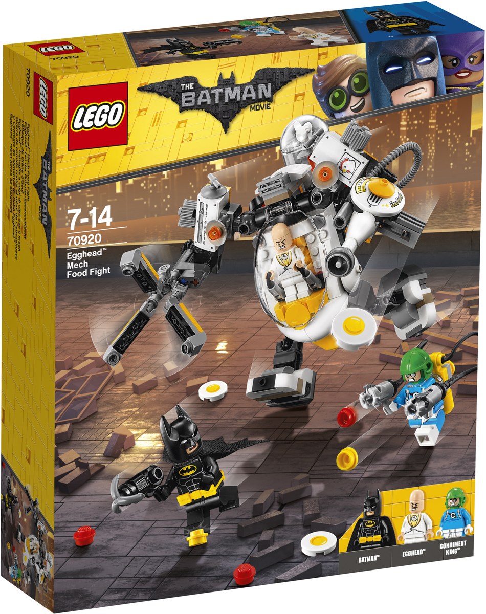 LEGO Batman Movie Конструктор Бой с роботом Яйцеголового 70920 разрушительное нападение двуликого batman movie 70915