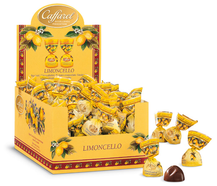 Caffarel Конфеты шоколадные из темного шоколада с ликером Лимончелло, 1 кг конфеты круглые с ромом купить в иркутске