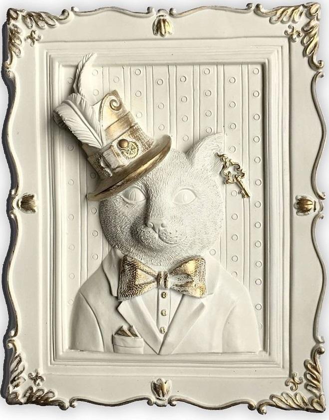 Украшение декоративное Magic Home Кот в шляпе, 23 х 19 х 5 см. 44370 декоративное украшение рождественская елочка 17 см 72814