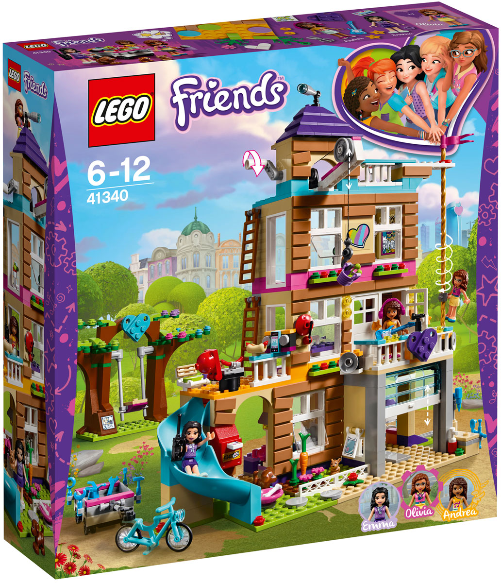 LEGO Friends Конструктор Дом дружбы 41340 экран для ванны triton эмма 170