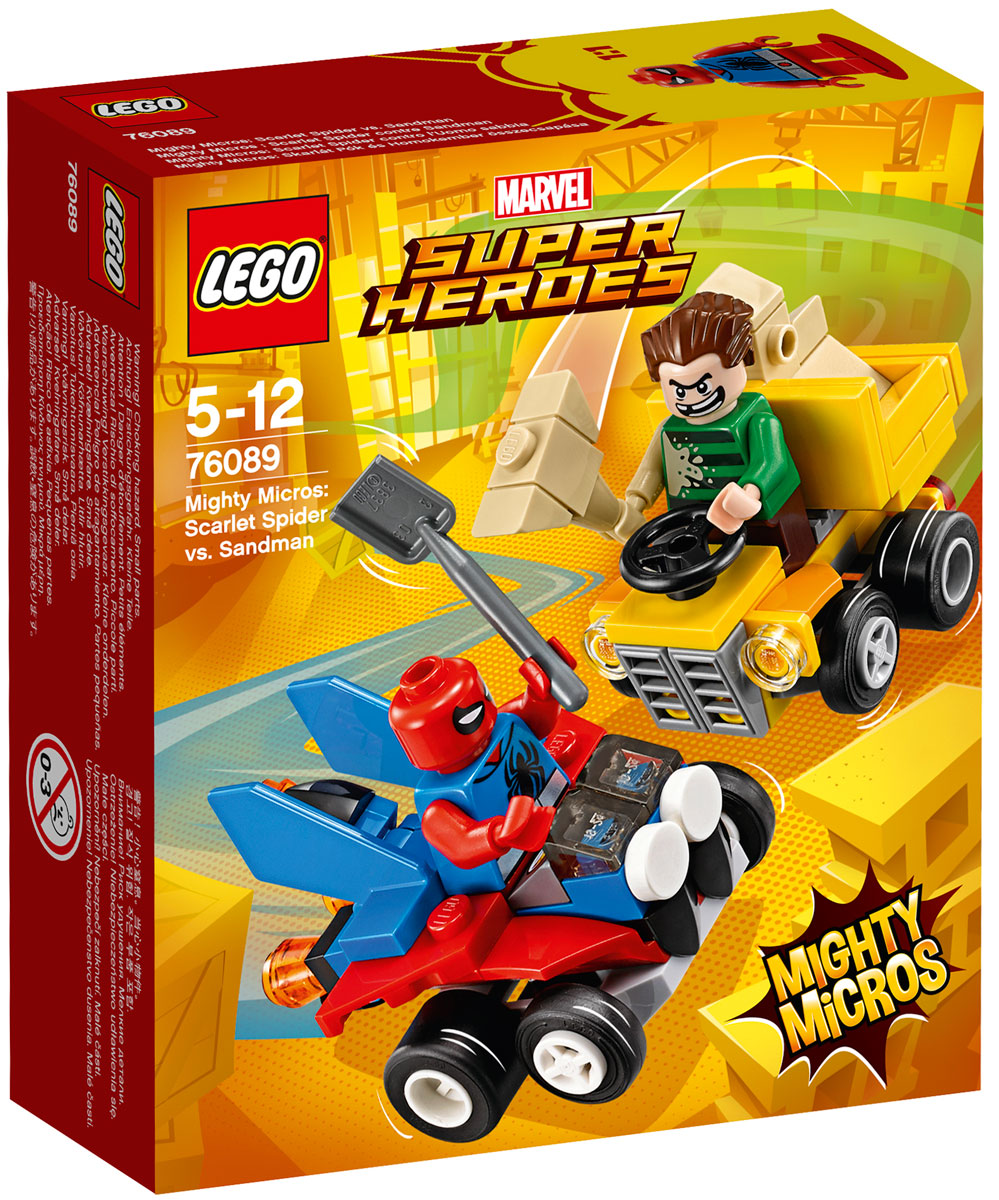 LEGO Super Heroes Конструктор Mighty Micros Человек-паук против Песочного человека 76089 lego lego super heroes mighty micro человек паук против скорпион