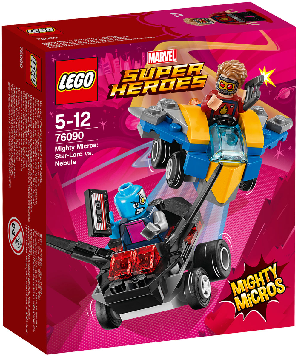 LEGO Super Heroes Конструктор Mighty Micros Звездный Лорд против Небулы 76090 конструктор lego super heroes 76055 бэтмен убийца крок