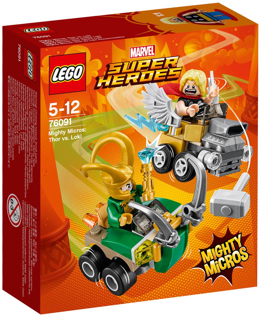 LEGO Super Heroes Конструктор Mighty Micros Тор против Локи 76091