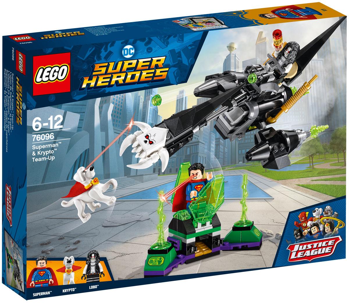 LEGO Super Heroes Конструктор Супермен и Крипто объединяют усилия 76096 конструктор lego marvel super heroes реактивный самолёт мстителей 76049