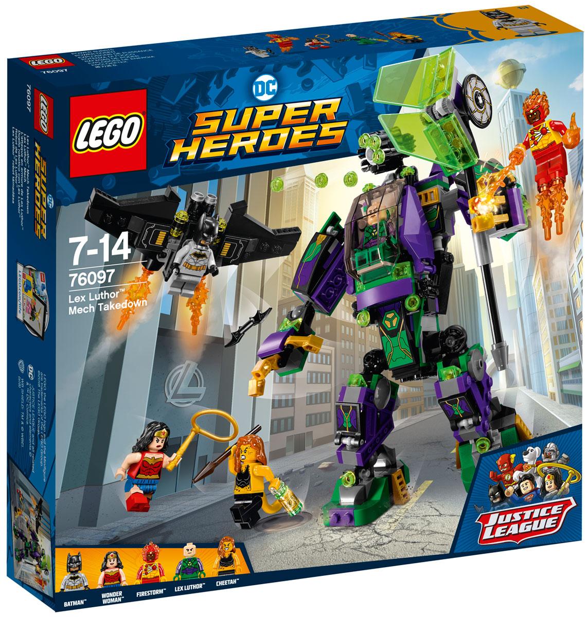 LEGO Super Heroes Конструктор Сражение с роботом Лекса Лютора 76097 конструктор lego marvel super heroes реактивный самолёт мстителей 76049