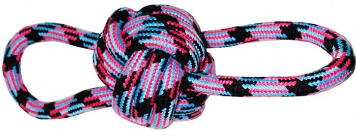 Грейфер для собак №1, с мячом, 23 смГР050Игрушка-грейфер для собак №1 оснащена мячиком и отлично подойдет для перетягивания. Благодаря веревке, сплетенной из хлопковых нитей, грейфер поможет поддерживать гигиену зубов собак и массажировать десны.