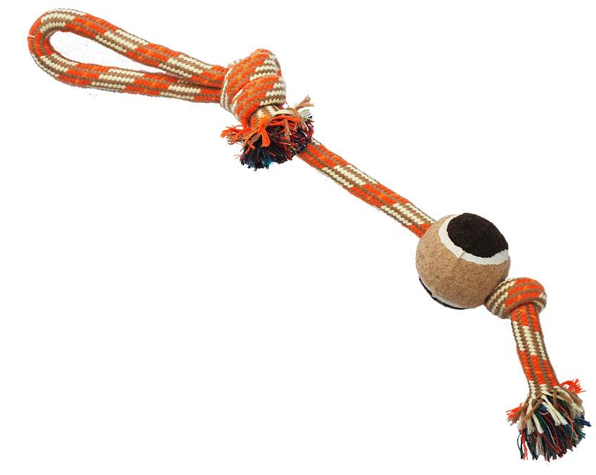 Грейфер для собак №1, с мячом, 37 см грейфер для собак 1 2 узла с мячом 35 см