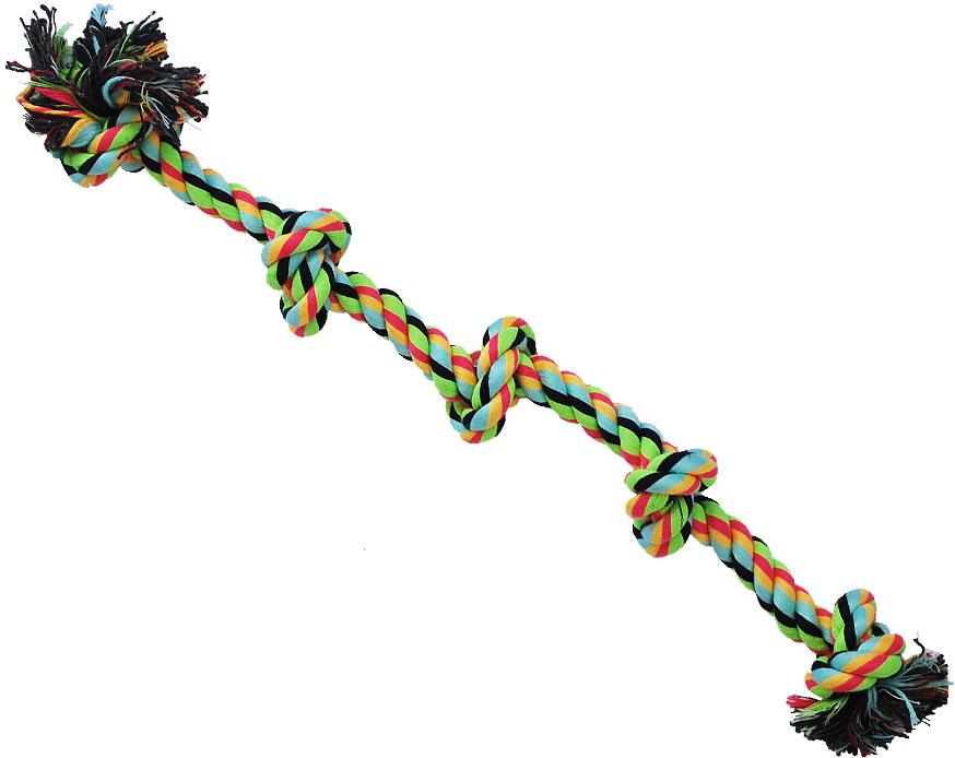 Грейфер для собак №1, 5 узлов, 46 смГР1003Благодаря веревке, сплетенной из хлопковых нитей, игрушка-грейфер для собак №1 поможет поддерживать гигиену зубов собак и массажировать десны.