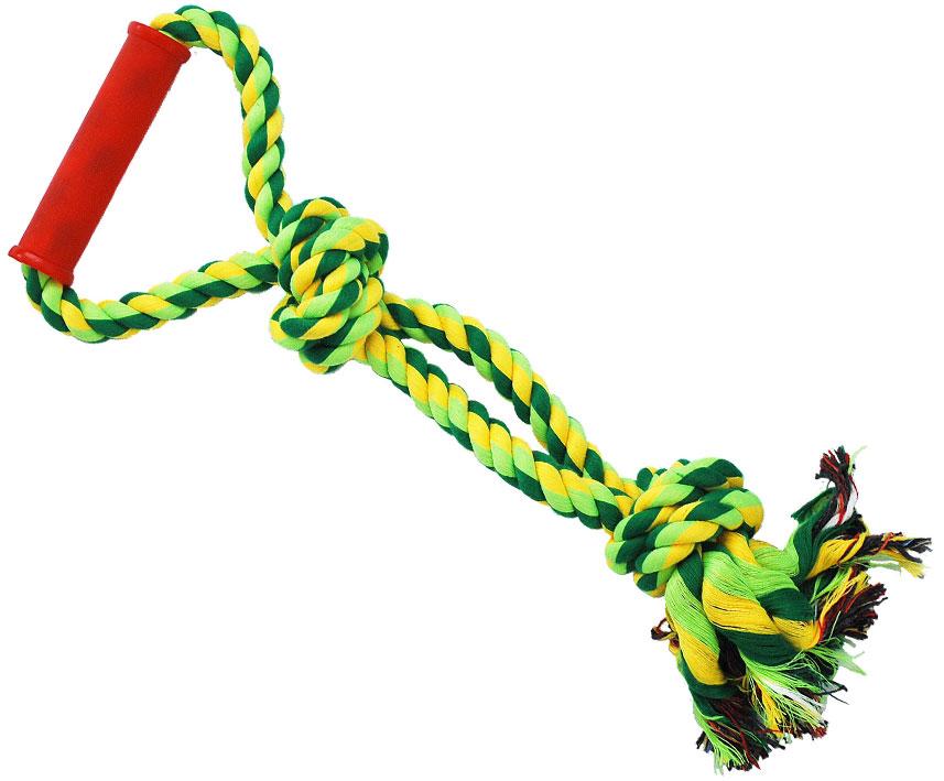 Грейфер для собак №1, с ручкой, 40 смГР336Благодаря веревке, сплетенной из хлопковых нитей, игрушка-грейфер для собак №1 поможет поддерживать гигиену зубов собак и массажировать десны.