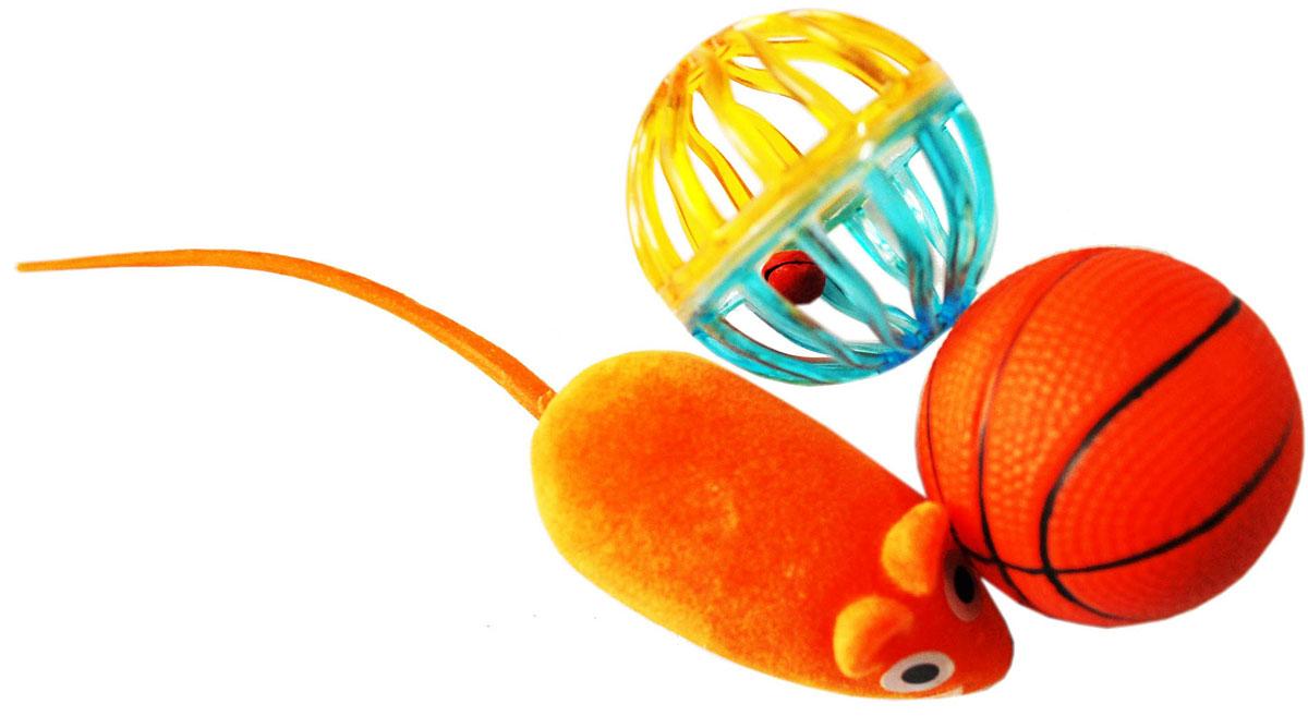 Набор игрушек для кошек Уют, 3 шт. ИУ60 игрушки для ванны red box набор заводные водяные игрушки 3 шт