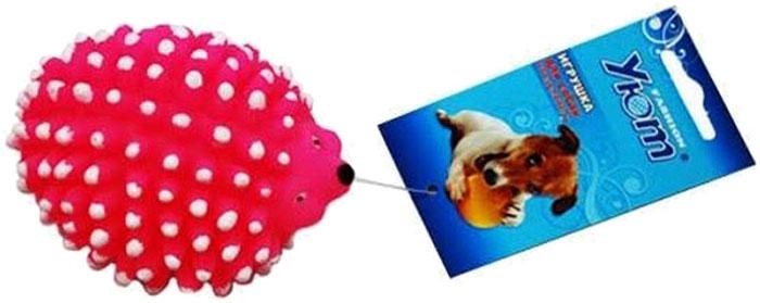 Игрушка для собак Уют Ежик, 10 x 7,5 x 6 см игрушка для собак уют сыр с мышкой 11 x 5 см