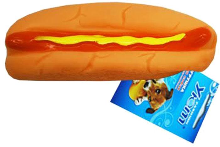 Игрушка для собак Уют Хот-дог, 14 x 4 x 3,5 см уют