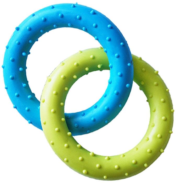 Игрушка для собак Уют Кольцо, 13,5 см, 2 штИШ112Игрушка для собак Уют выполнена из резины в виде двух колец. Подходит для собак мелких и средних пород. Прочные безопасные материалы. Яркая, привлекательная расцветка.