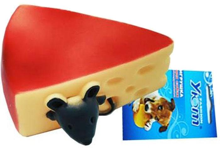 Игрушка для собак Уют Сыр с мышкой, 11 x 5 см игрушка для собак уют сыр с мышкой 11 x 5 см