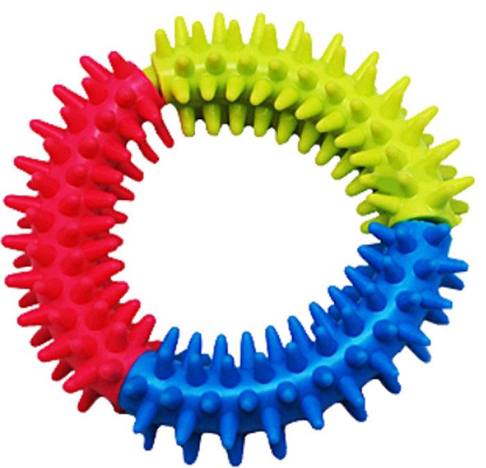 Игрушка для собак Уют Кольцо с шипами, 10 смИШ16Игрушка для собак Уют выполнена из винила в виде кольца. Подходит для собак мелких и средних пород. Прочные безопасные материалы. Яркая, привлекательная расцветка.