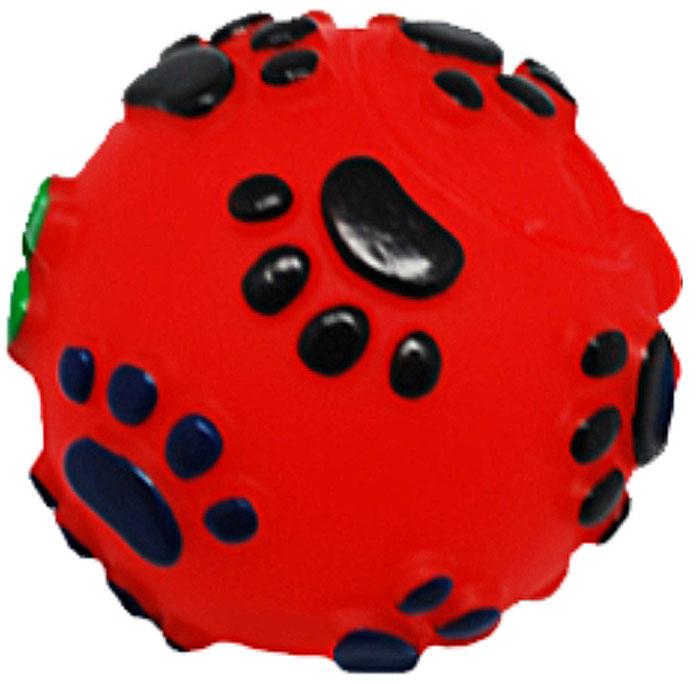 Игрушка для собак Уют Мяч лапки, 6,5 см уют