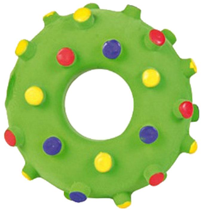 Игрушка для собак Уют Кольцо с пупырышками, 8 смИШ37Игрушка для собак Уют выполнена из винила в виде кольца. Подходит для собак мелких и средних пород. Прочные безопасные материалы. Яркая, привлекательная расцветка.