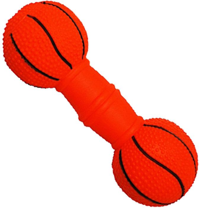Игрушка для собак Уют Гантель баскетбольная, 19 x 6 смИШ50Подходит для собак мелких и средних пород. Прочные безопасные материалы. Яркая, привлекательная расцветка.