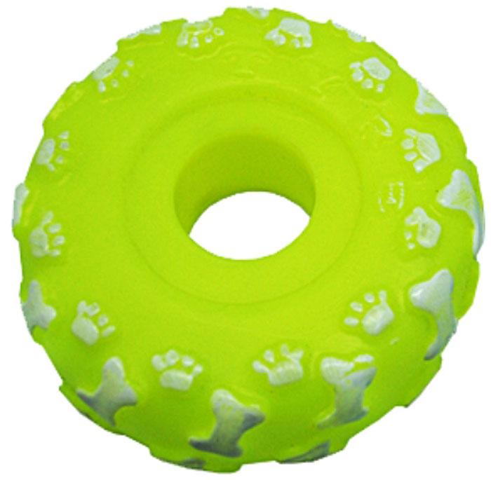 Игрушка для собак Уют Шина, 10 смИШ8Игрушка для собак Уют выполнена из винила в виде шины. Подходит для собак мелких и средних пород. Прочные безопасные материалы. Яркая, привлекательная расцветка.