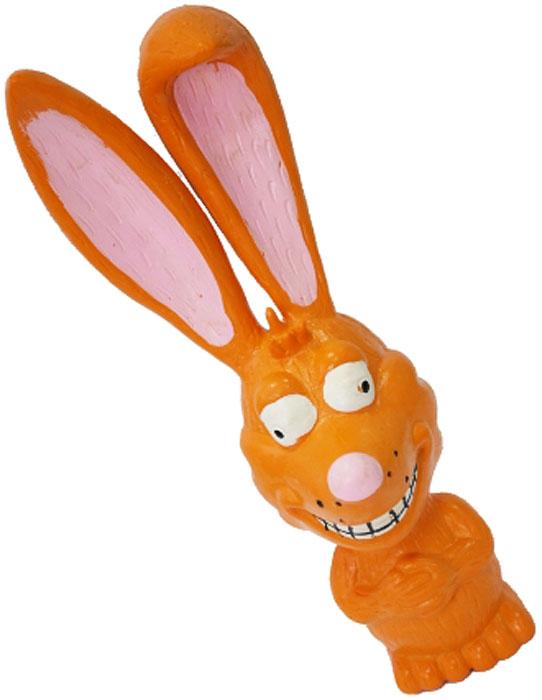 Игрушка для собак №1 Заяц, с пищалкой, цвет: оранжевый, 18 смЛС3Игрушка для собак №1 выполнена в виде зайца. Собаки очень любят играть. Игрушка оснащена пищалкой, благодаря которой собака с радостью ее хватает и подбрасывает.