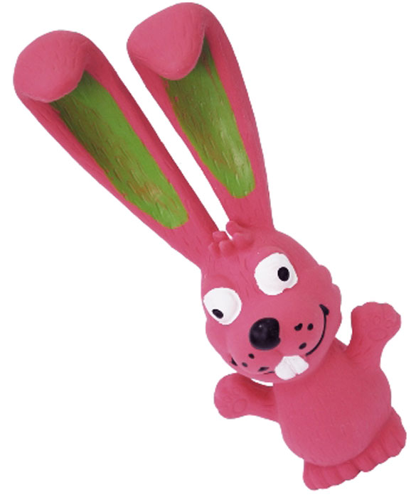 Игрушка для собак №1 Заяц, с пищалкой, цвет: розовый, 18 смЛС4Игрушка для собак №1 выполнена в виде зайца. Собаки очень любят играть. Игрушка оснащена пищалкой, благодаря которой собака с радостью ее хватает и подбрасывает.