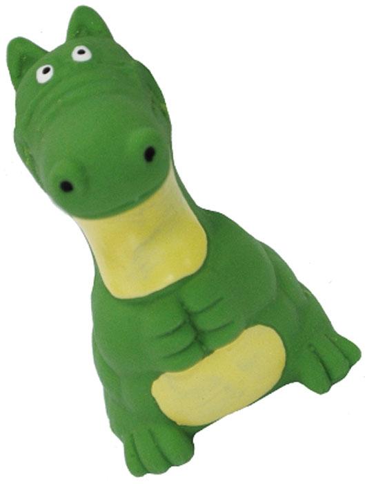 Игрушка для собак №1 Динозавр, с пищалкой, 10 смЛС7Игрушка для собак №1 выполнена в виде динозаврика. Собаки очень любят играть. Игрушка оснащена пищалкой, благодаря которой собака с радостью ее хватает и подбрасывает.