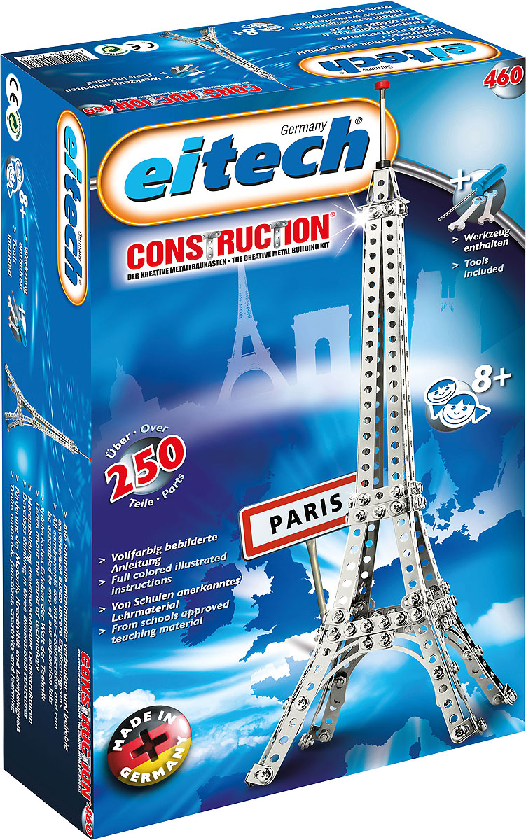 Eitech Конструктор металлический Эйфелева башня 00460 пазлы magic pazle объемный 3d пазл эйфелева башня 78x38x35 см