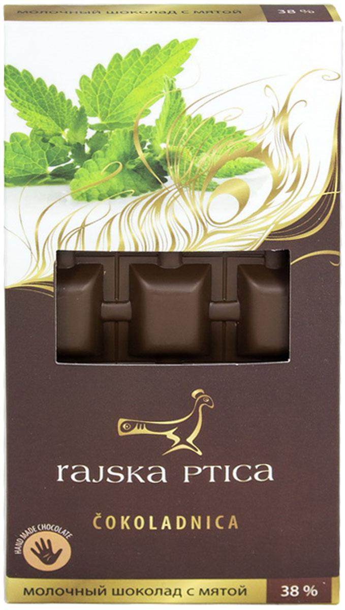 Райская птица Молочный шоколад 38% с мятой, 85 г паста соевая weishenhe кочудян 500 мл экономичная упаковка