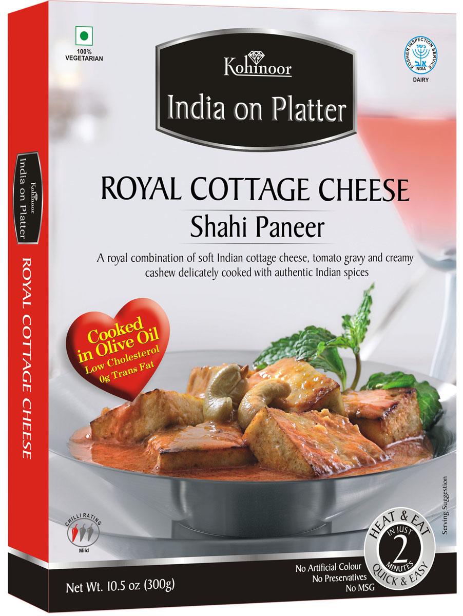 Kohinoor India on Platter Shahi Paneer готовые блюда, 300 гбещ005Shahi Paneer - индийский сыр в ароматном соусе.Kohinoor представляет вам широкий спектр готовых блюд подлинной индийской кухни.Каждый рецепт несёт в себе истинный вкус настоящей Индии.Для приготовления используется смесь традиционных индийских специй, экзотических трав и других специальных ингредиентов.Гарантируем, что с каждым укусом вы погружаетесь в настоящий индийский мир, а ассортимент Kohinoor обещает истинное наслаждение для самых требовательных гурманов.