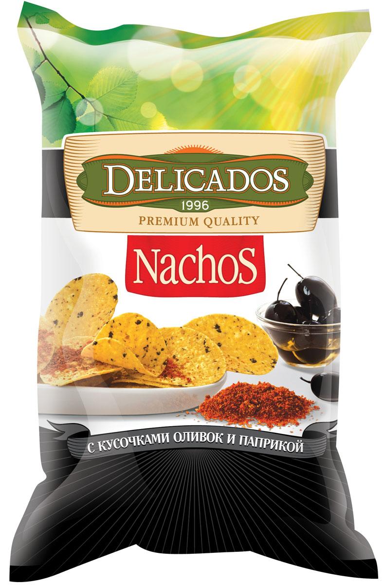 Delicados чипсы кукурузные оливки паприка, 75 г