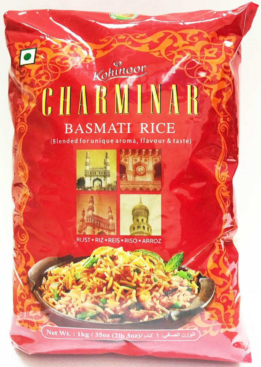 Kohinoor шарминар басмати, 1 кг чудо зернышко рис круглозерный 1 сорт 800 г